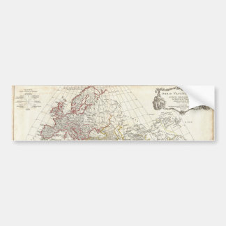 1794 Anville Map of the Ancient World Bumper Sticker