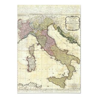 1794 Jean Baptiste Bourguignon D'Anville Italy Map 13 Cm X 18 Cm Invitation Card