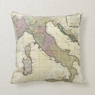 1794 Jean Baptiste Bourguignon D'Anville Italy Map Throw Pillow