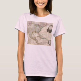 1794 Pownell Map of North America and West Indies T-Shirt