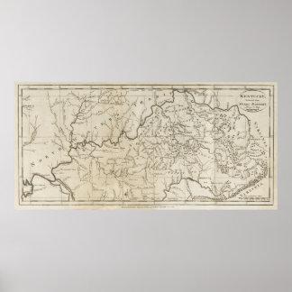 1795 Map of Kentucky Poster