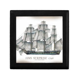 1796 HMS Surprise aged Gift Box