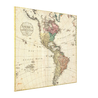1796 Mannert Map of North and South America Gallery Wrapped Canvas