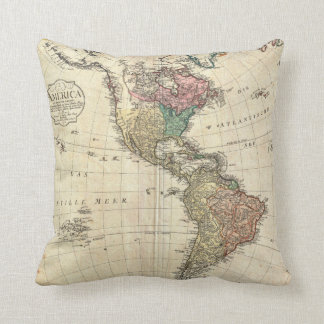 1796 Mannert Map of North and South America Cushion