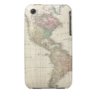 1796 Mannert Map of North and South America iPhone 3 Cases