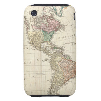 1796 Mannert Map of North and South America iPhone 3 Tough Cover