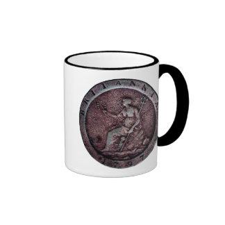 "1797 British ""cartwheel"" penny mug"