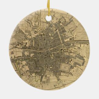 1797 Map of Dublin Ireland Round Ceramic Decoration