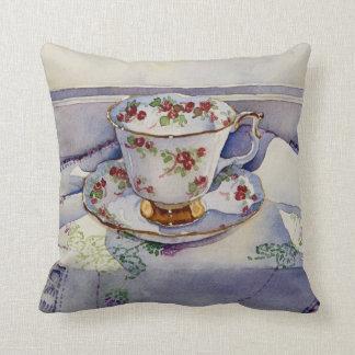 1799 Teacup on Linen Cushion