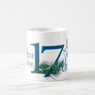 # 17 - 17th Wedding Anniversary or 15th Birthday Basic White Mug