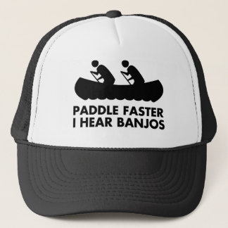 $17.95 Paddle Faster I Hear Banjos Hat