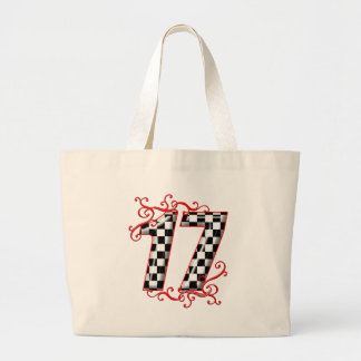 17 auto racing number tote bag