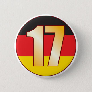17 GERMANY Gold 6 Cm Round Badge