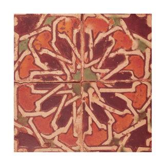 17:Isnik Tile, 16th century Wood Wall Decor