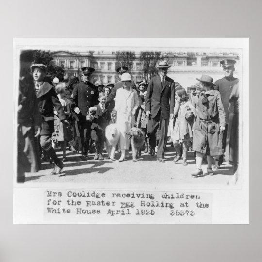 17 Mrs. Coolidge Easter Egg White House Poster