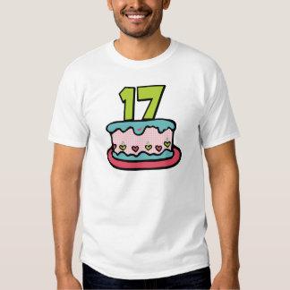 17 Year Old Birthday Cake T Shirt