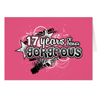 17 Years Of Being Gorgeous (17th Birthday) Card
