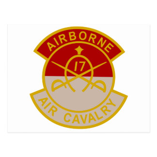 17th Air Cavalry 1st Squadron Airborne Patch Postcards