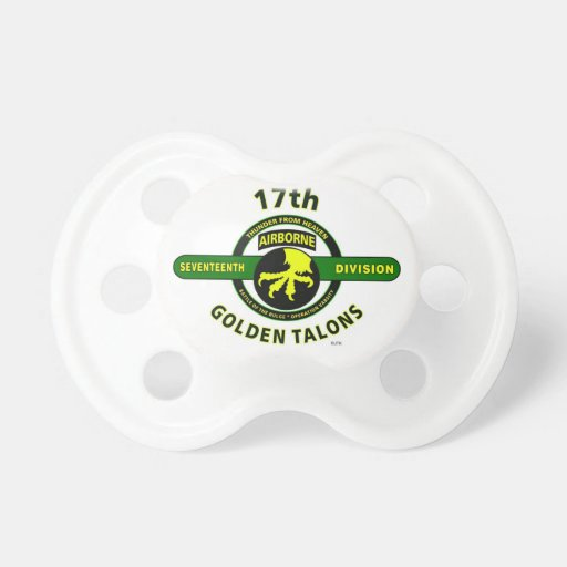 """17TH AIRBORNE DIVISION """"THUNDER FROM HEAVEN"""" PACIFIERS"""
