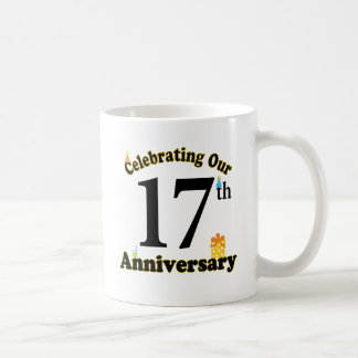 17th Anniversary Basic White Mug