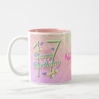 17th Birthday Butterfly Garden Mug