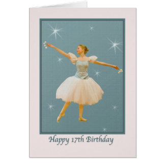 17th Birthday Card with Ballet Dancer