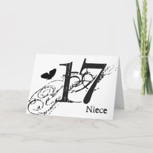 17 birthday birthday cards zazzle uk Elegant 50th Birthday Cakes 17th birthday for a niece black butterfly text card