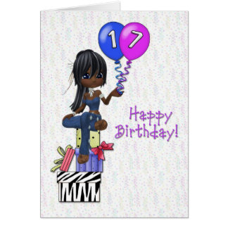 17th Birthday Girl Card