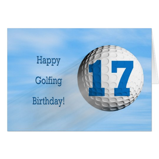 17th birthday golfing card
