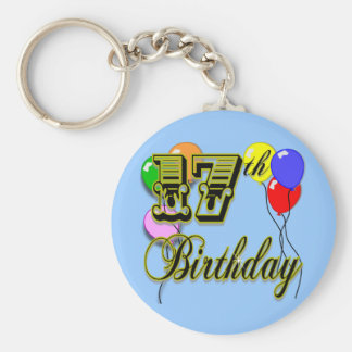 17th Birthday Merchandise Basic Round Button Key Ring