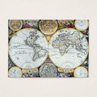17th Century Antique World Map by John Seller