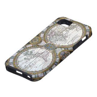 17th Century Antique World Map, c. 1688 iPhone 5 Covers