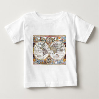 17th Century Dual Hemisphere World Map T Shirt