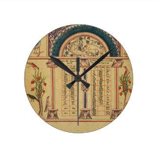 17th Century Illuminated Manuscript Round Clock
