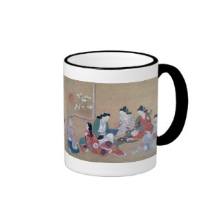 17th Century Japanese Musicians Mugs and Steins