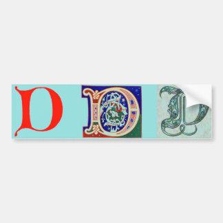 17th Century Letter D Bumper Sticker