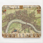 17th century map of London ( W.Hollar ) Mousepad