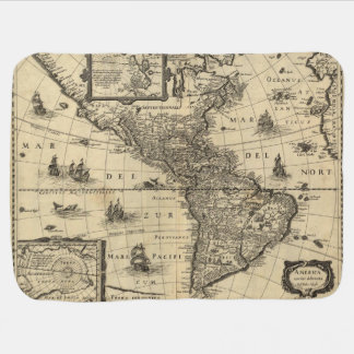 17th-century map of the Americas Baby Blanket