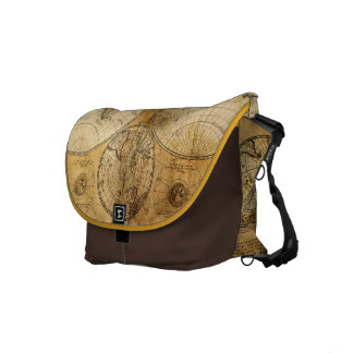 17th century Old World Map messenger bag