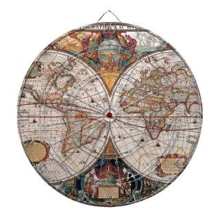 17th Century original World Map1600s Dartboard