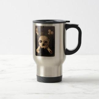 17th Century Skull and Crossbones Stainless Steel Travel Mug