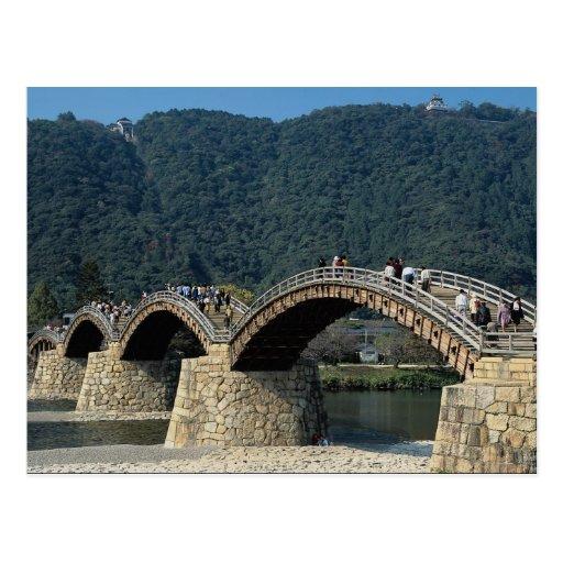 17th century stone and wood Kintai Bridge, Japan Postcards