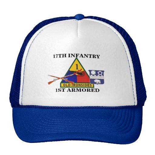 17TH INFANTRY REGT 1ST ARMORED DIV HAT