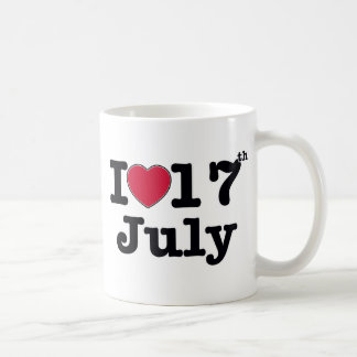 17th july my day birthday coffee mug