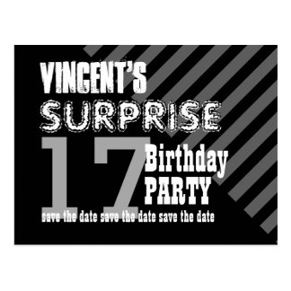 17th TEEN Surprise Birthday Save the Date T17A Post Cards