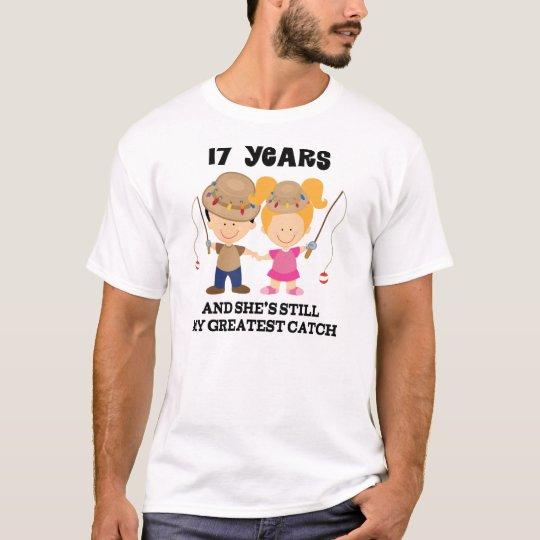 17th Wedding Anniversary Gift For Him T-Shirt