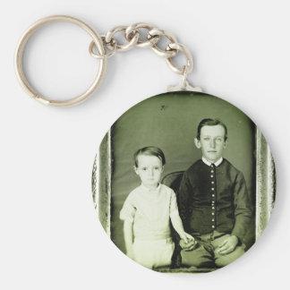 1800s Children Portrait Keychains