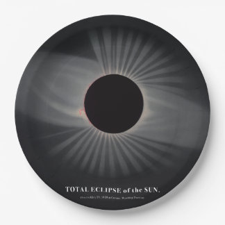 1800s Solar Eclipse Paper Plate