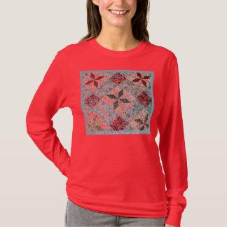 1800sq, 1850's Toile Star Antique Quilt T-Shirt