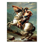 1801 Napoleon Crossing the Alps, Jacques-Louis Dav Post Card